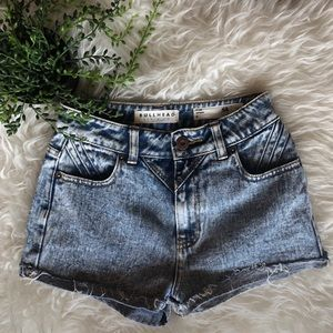 Acid Wash High Waist Shorts